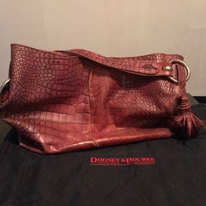 Large Dooney and Bourke red leather shoulder purse